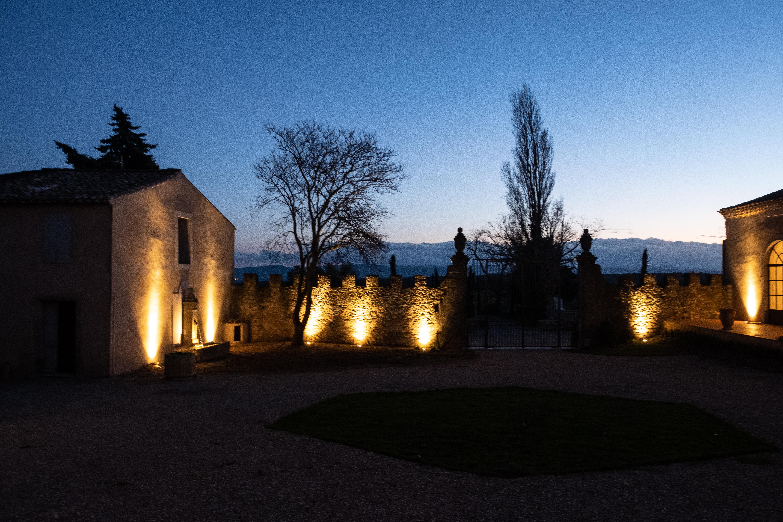 Château de Villerambert - concert extérieur nuit
